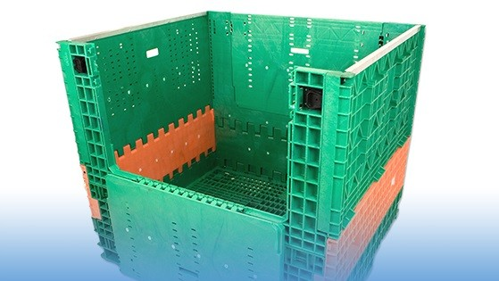 Knock Down Plastic Container